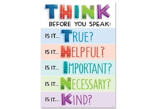 Creative Teaching Press Think before you speak... Poster*