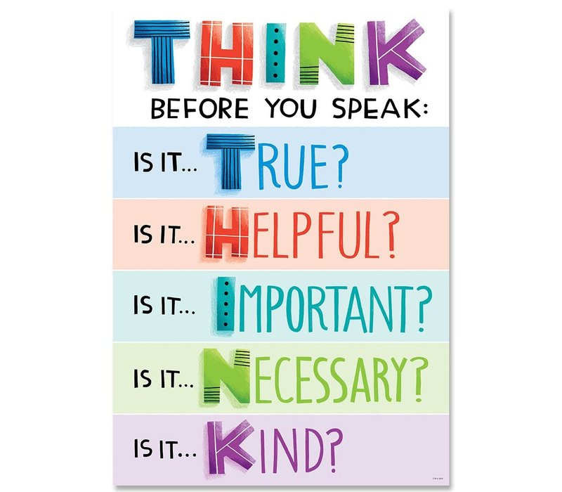 Think before you speak... Poster