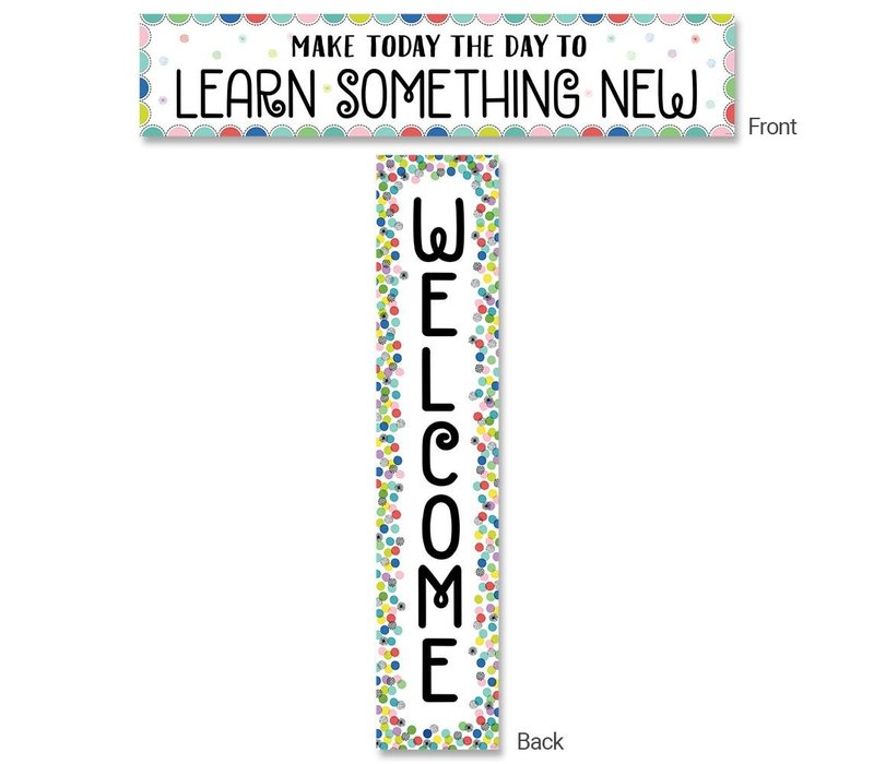 Color Pop Welcome Banner, Double-Sided