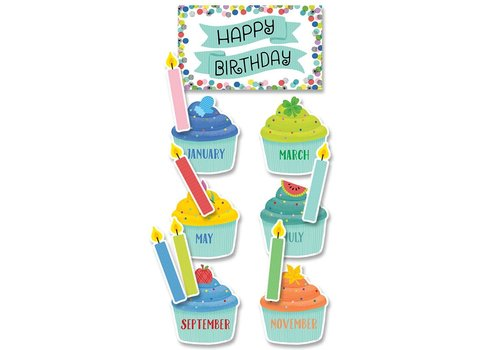 Creative Teaching Press Color Pop Birthday Mini Bulletin Board Set