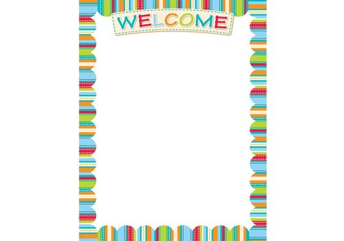 Creative Teaching Press Welcome Stripes Poster *