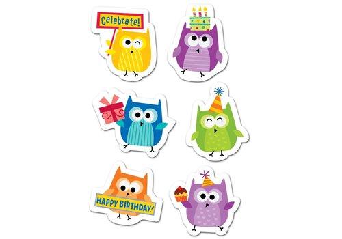 Creative Teaching Press Happy Birthday Owls Stickers