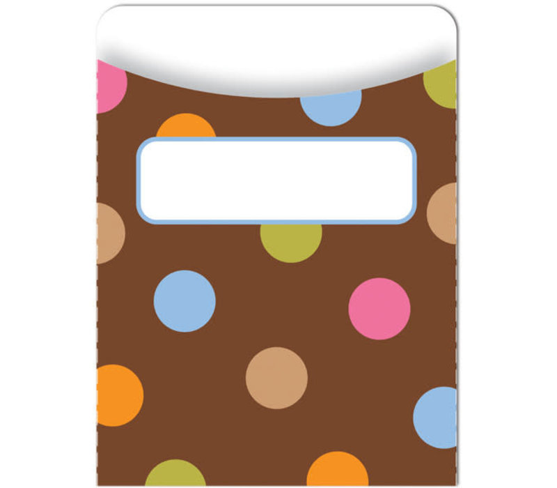 Dots on Chocolate Library Pockets
