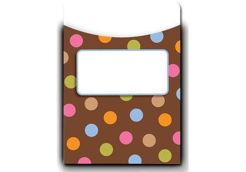 Creative Teaching Press Dots on Chocolate Library Pockets - Jumbo