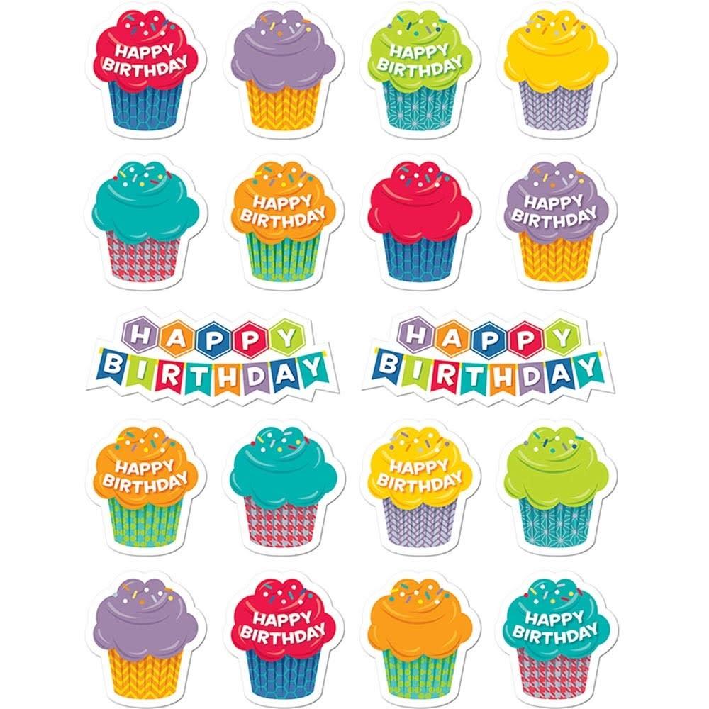 Hexafun happy birthday stickers