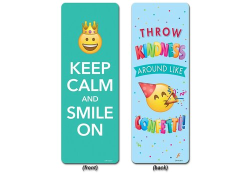 Creative Teaching Press Motivational Quotes Bookmark, Emoji