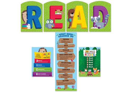 Creative Teaching Press Woodland Friends READ Bulletin Board Set