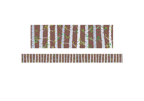 Creative Teaching Press Woodland Friends Birch Trees Border