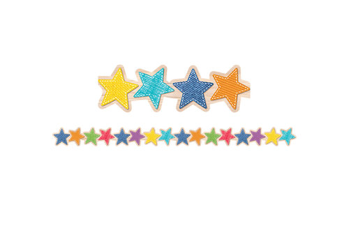 Creative Teaching Press Upcycle Style Stars Border