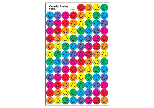 Trend Enterprises Colorful Smiles SuperSpots Stickers