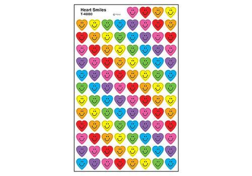 Trend Enterprises Super Shapes Stickers- Heart Smiles *