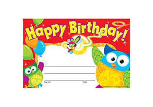 Trend Enterprises Happy Birthday Owl-Stars! *