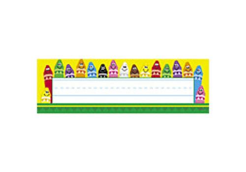 Trend Enterprises Colorful Crayon Nameplates