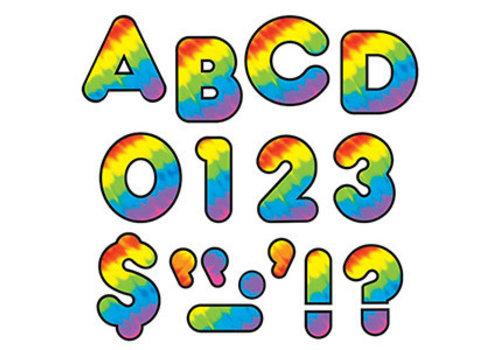 """Trend Enterprises Tie Dye Casual Letters 4"""""""