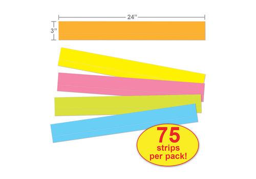 Carson Dellosa Lined Multicolored Sentence Strips *