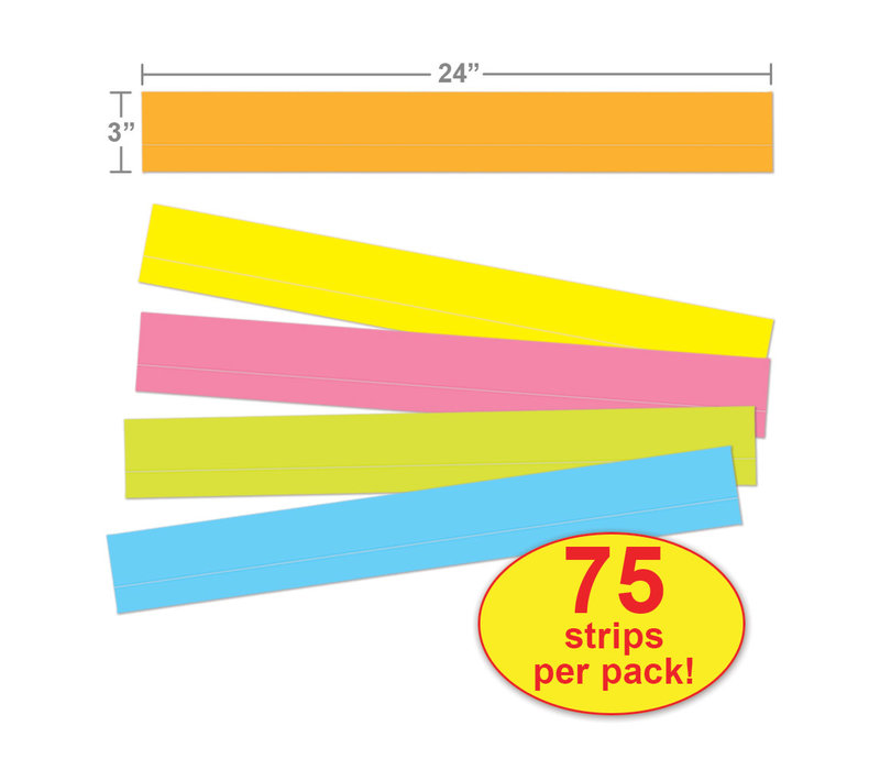Lined Multicolored Sentence Strips *