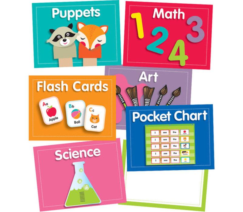 Just Teach Center Cards Mini Bulletin Board Set *