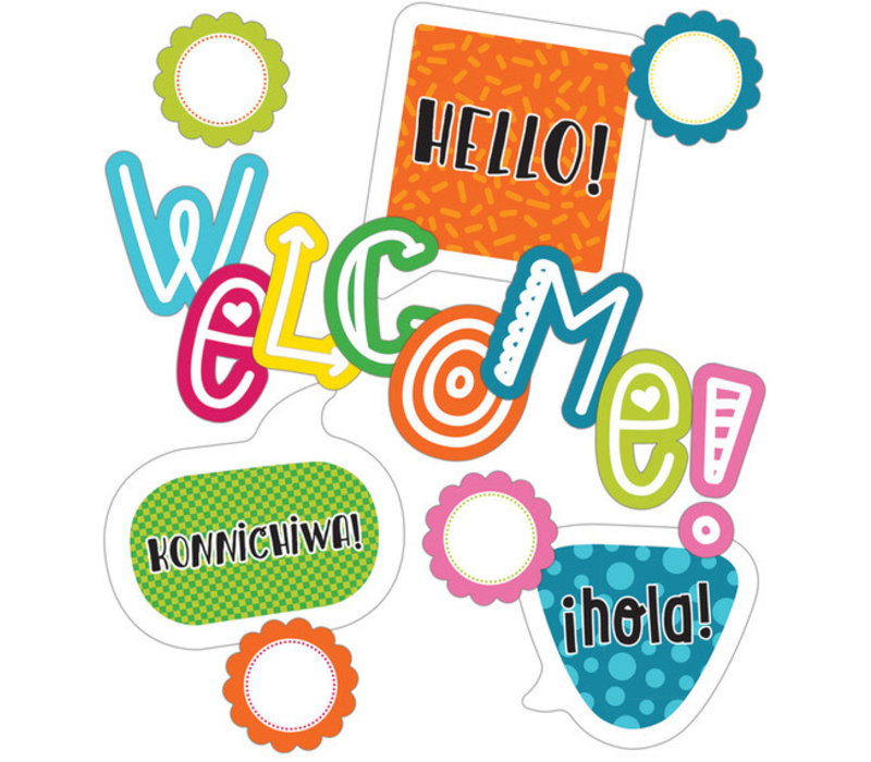 School Pop Welcome Mini Bulletin Board Set