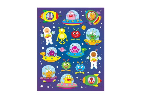 Carson Dellosa Out of This World Shape Stickers, 90 pack