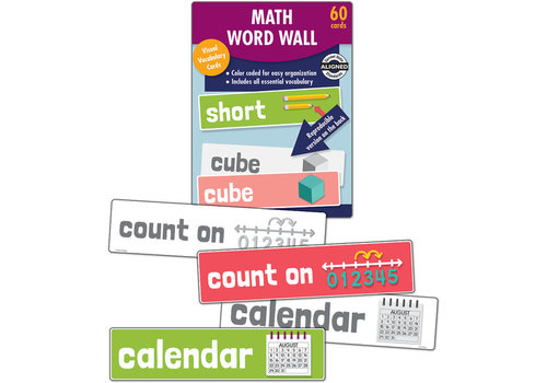 Carson Dellosa Math Word Wall Learning Cards Grade K