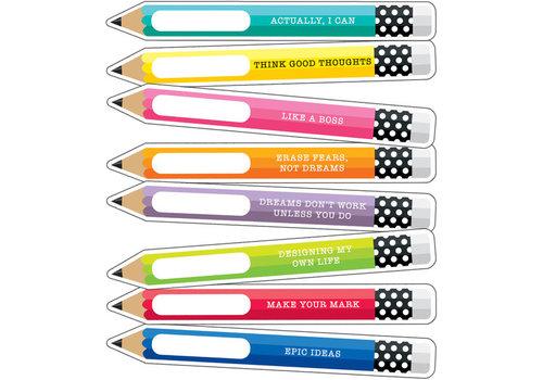 Carson Dellosa Motivational Pencils Cut-Outs