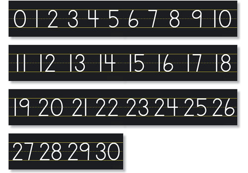 North Star Number Line - Chalkboard Numbers 0 to 30