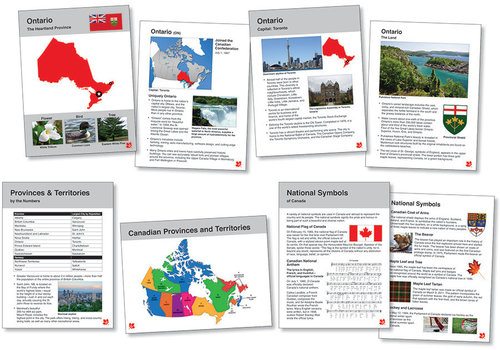 North Star Canadian Provinces & Territories-Info Cards