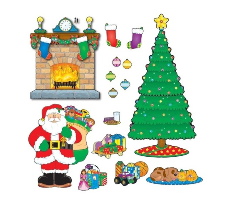 Christmas Scene Bulletin Board Set