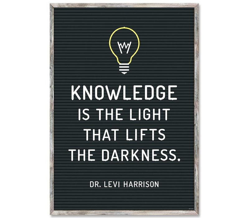 Knowledge is the Light Poster