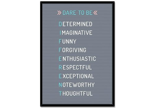 Creative Teaching Press Dare to be DIFFERENT poster