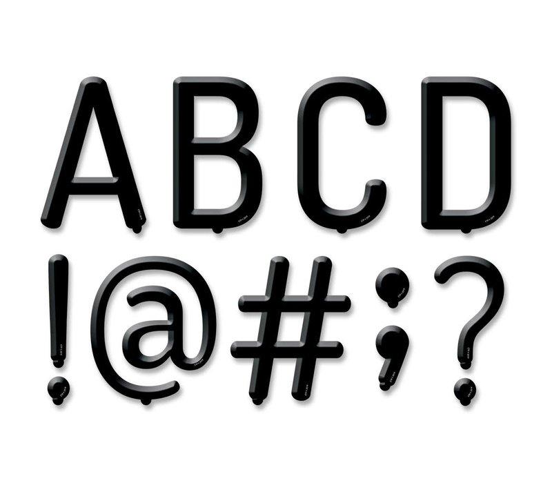 "5"" Black Letter Board Punchout Uppercase Letters"