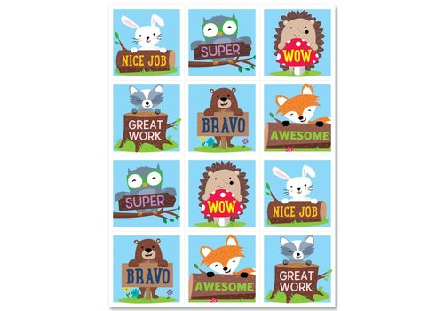 Creative Teaching Press Woodland Friends Rewards Stickers