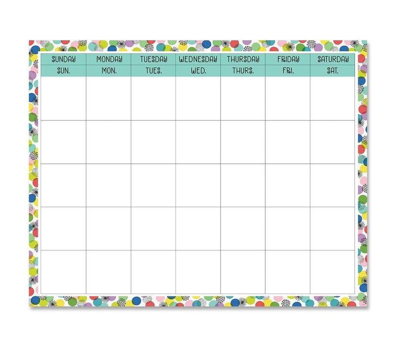 Color Pop Calendar Chart