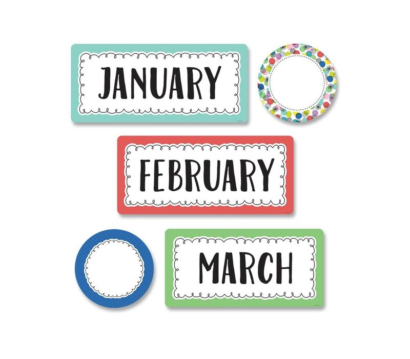 Color Pop Months of the Year