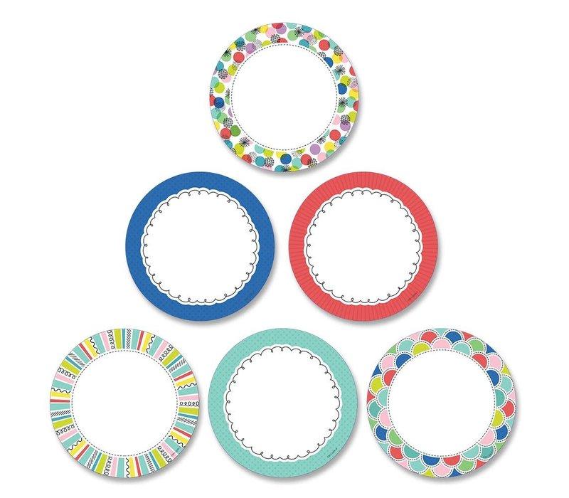 """Color Pop Dots 3"""" Designer Cut-Outs"""