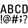 """Creative Teaching Press 5"""" Black Letter Board Punchout Uppercase Letters"""