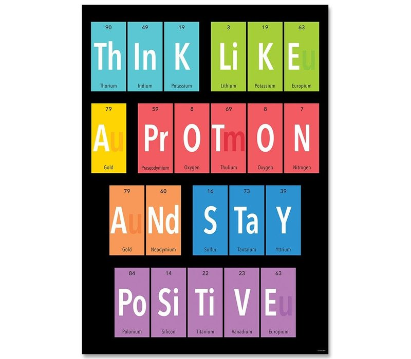 Think like a proton... Peroidic Element Poster*