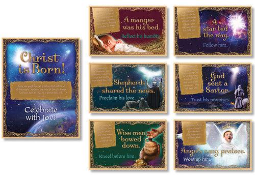 North Star Christmas Nativity Bulletin Board Set