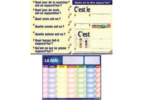 POSTER PALS French Calendar -Laminated