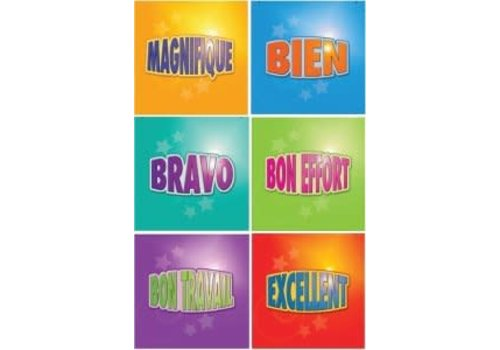 POSTER PALS French Motivational Stickers-Multipack