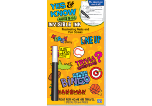 Lee Publications Yes & Know Invisible Ink Ages 7-77