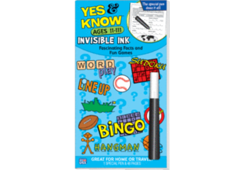 Lee Publications Yes & Know Invisible Ink Ages 11-111