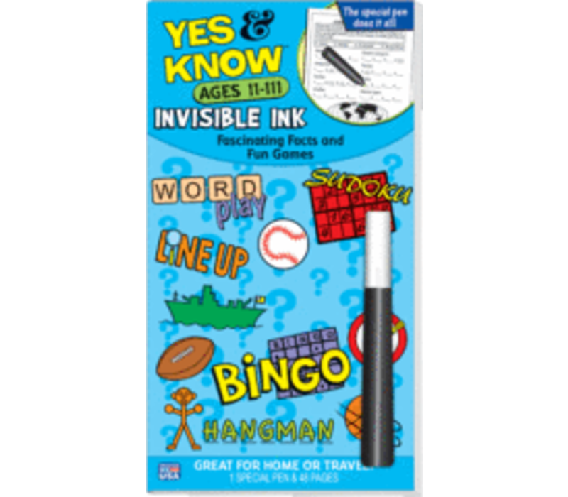 Yes & Know Invisible Ink Ages 11-111