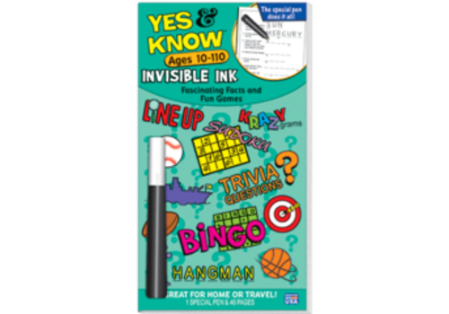 Lee Publications Yes & Know Invisible Ink Ages 10-110