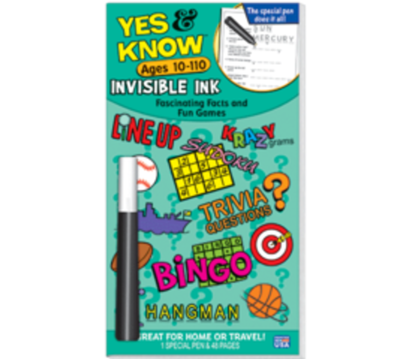 Yes & Know Invisible Ink Ages 10-110
