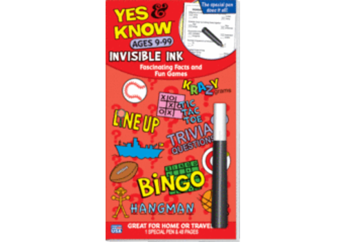 Lee Publications Yes & Know Invisible Ink Ages 9-99