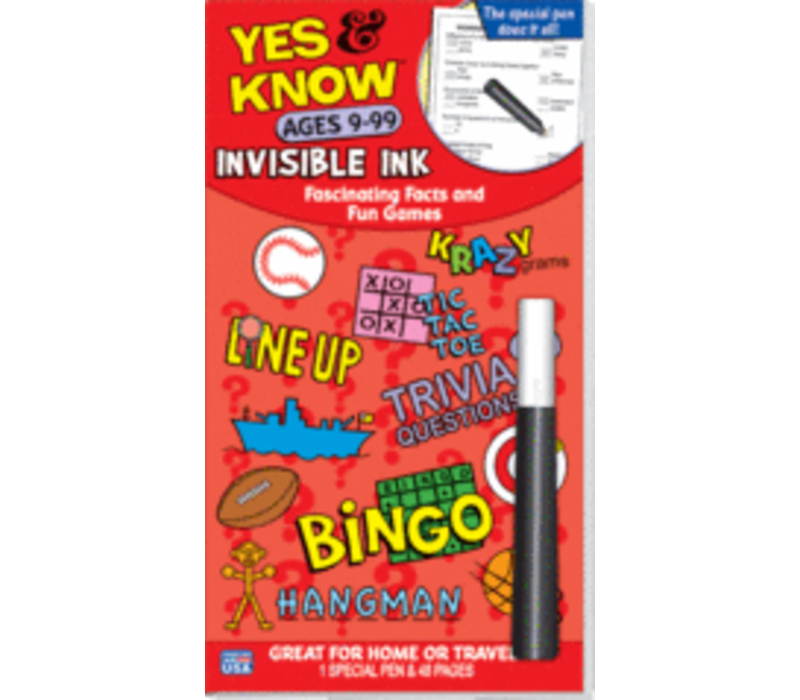 Yes & Know Invisible Ink Ages 9-99