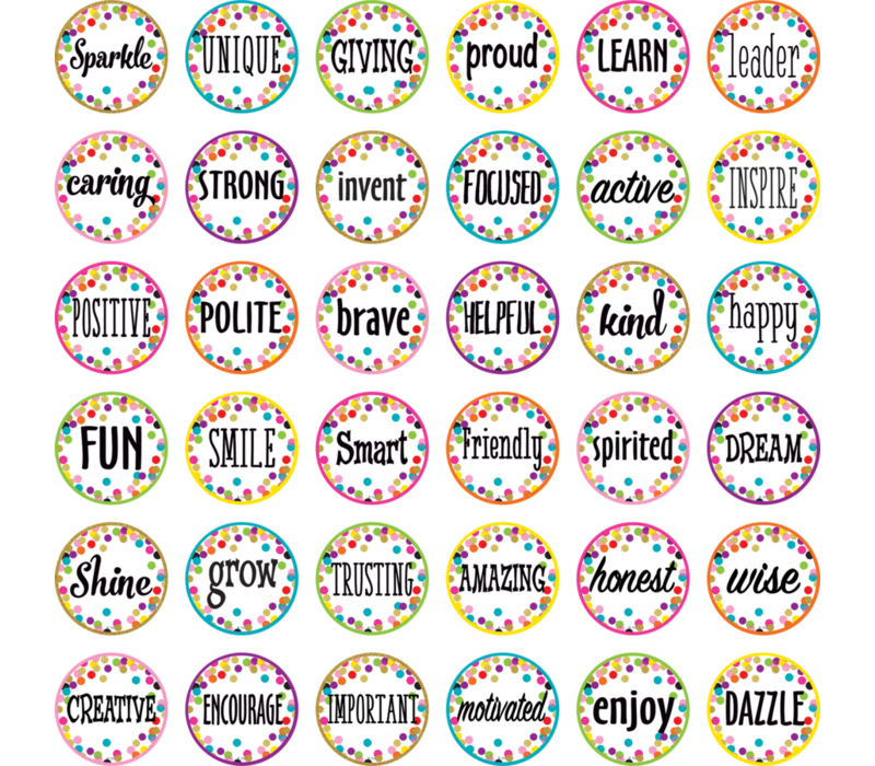Confetti Positive Words Mini Accents