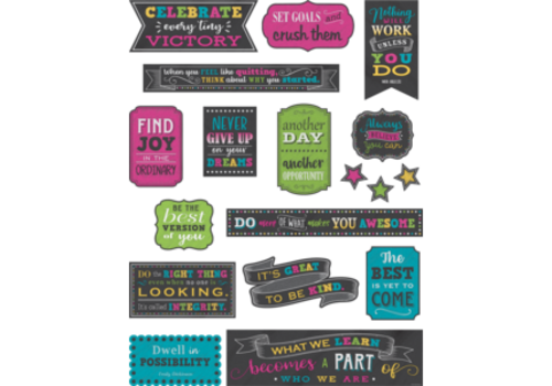 Teacher Created Resources Chalkboard Brights Positive Sayings Mini Bulletin Board *