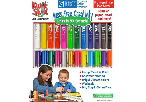 THE PENCIL GRIP COMPANY Kwik Stix, 24 Pack